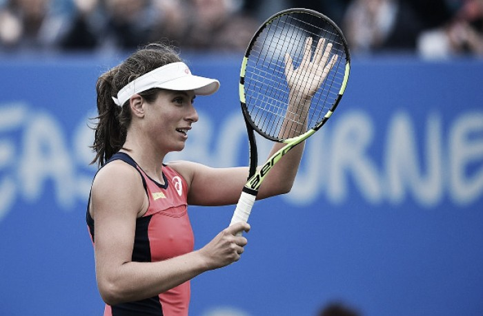 Injured Konta out of Eastbourne, doubt for Wimbledon