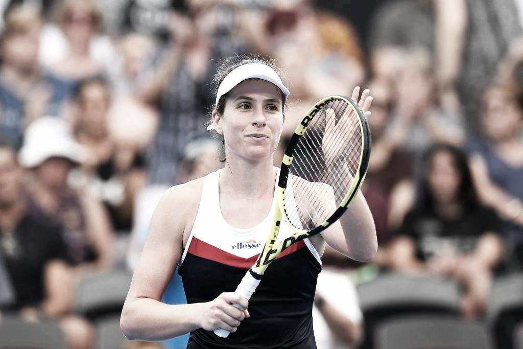 Konta desbanca Stephens e vai à segunda rodada em Brisbane