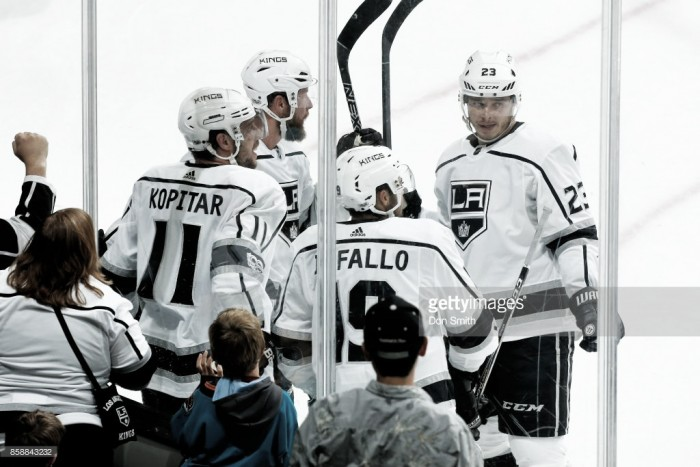 Anze Kopitar's three point night lifts the Los Angeles Kings over the San Jose Sharks