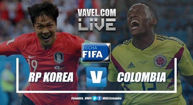 Resumen Corea del Sur vs Colombia por amistoso FIFA (2-1)