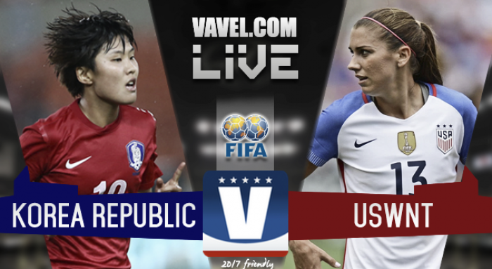 Results and Scores of USWNT 3-1 Korea Republic in 2017 International Friendly