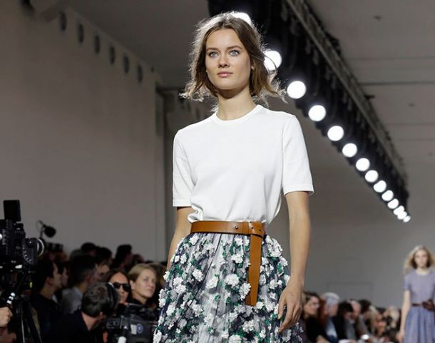 Michael Kors showcases spring 2015 collection at New York fashion week