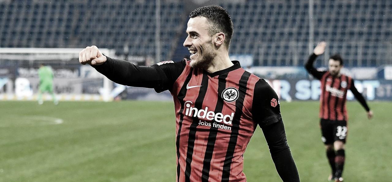 Kostic brilha, e Frankfurt vence Hoffenheim para entrar no G-4 da Bundesliga