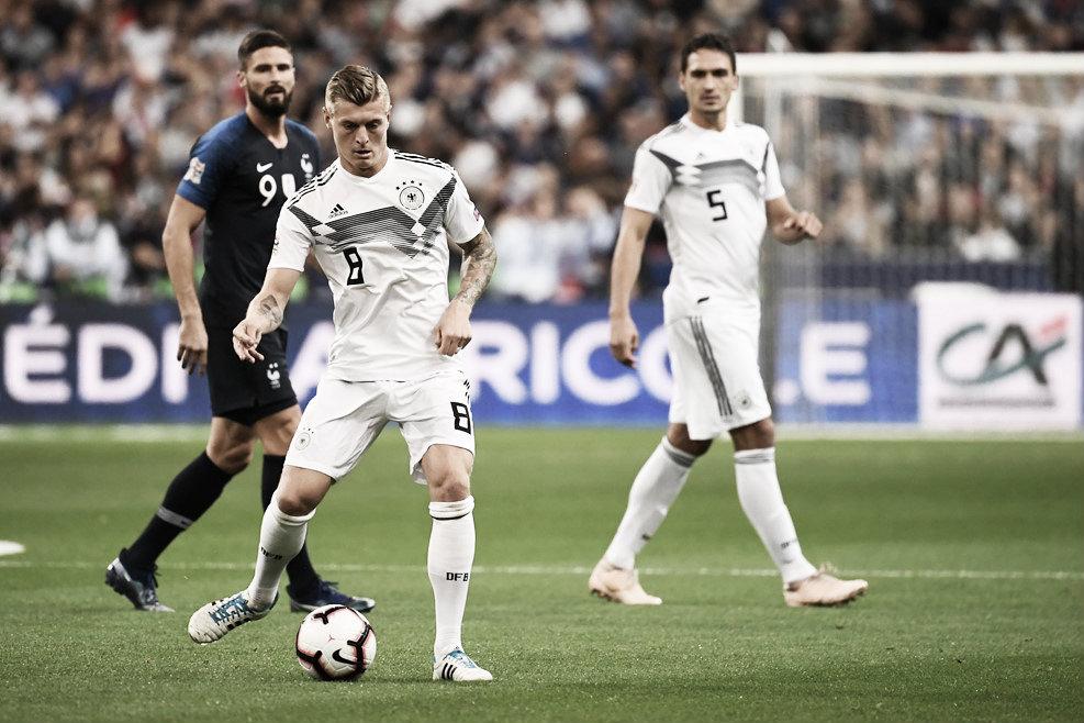 El gol de Kroos no evita la victoria de la Francia de Varane