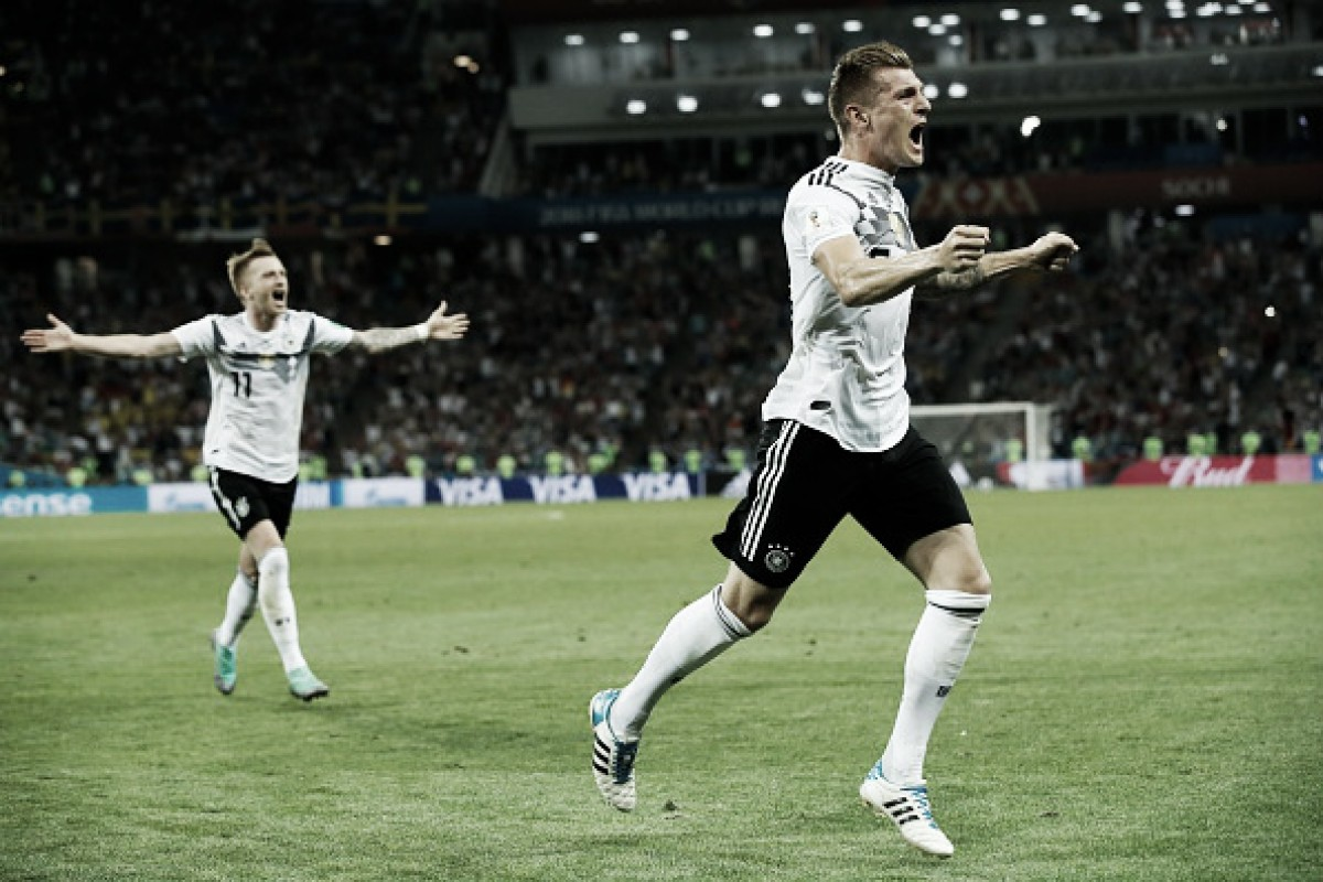 Kroos marca nos acréscimos e garante vitória da Alemanha de virada sobre Suécia