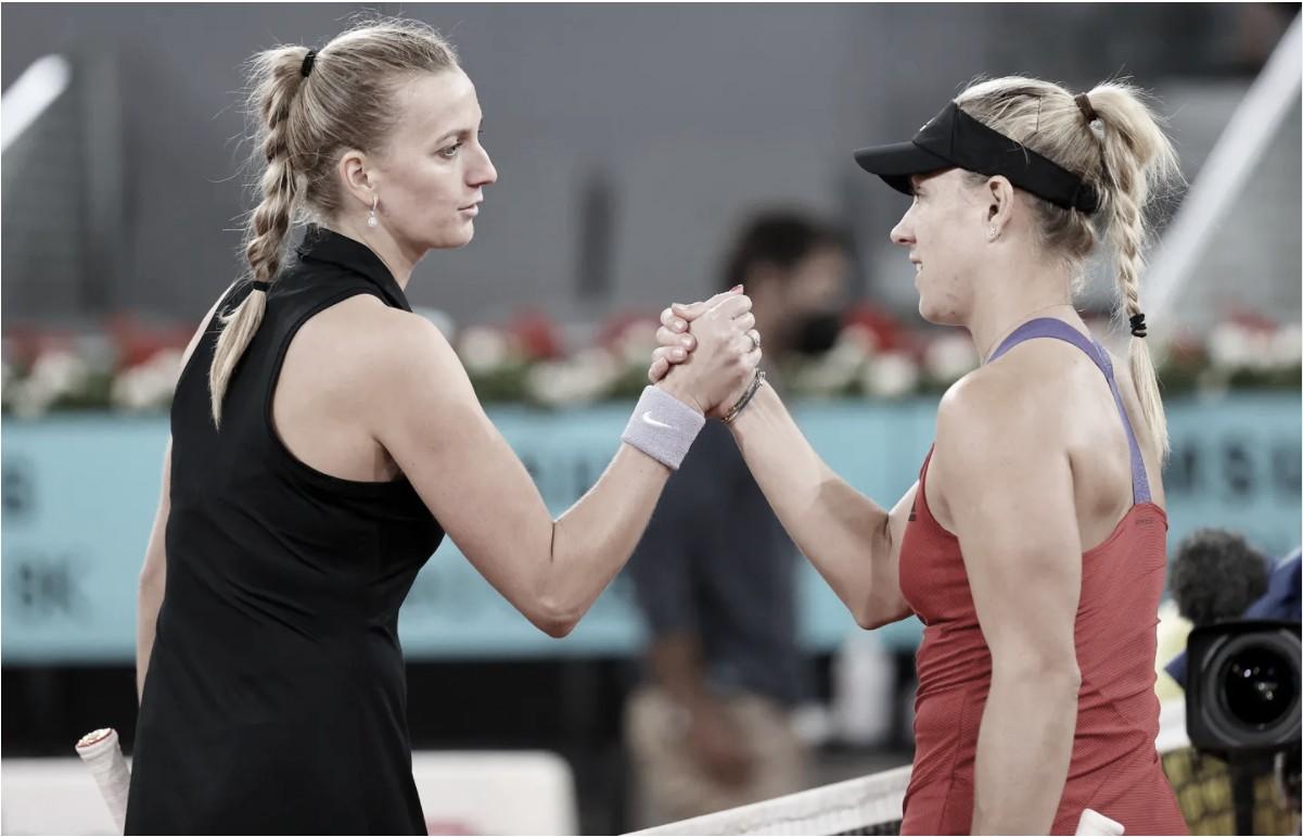 Em busca do tetra, Kvitova derrota Kerber e vai à terceira rodada em Madrid