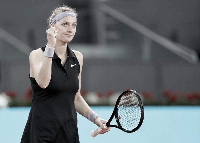 Em três sets, Kvitova passa por Kudermetova nas oitavas do WTA 1000 de Madrid