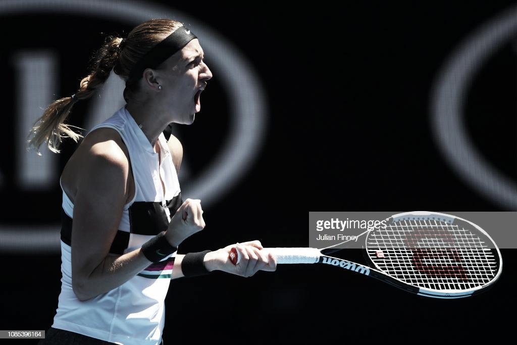 Kvitova muestra su mejor versión en la Rod Laver Arena