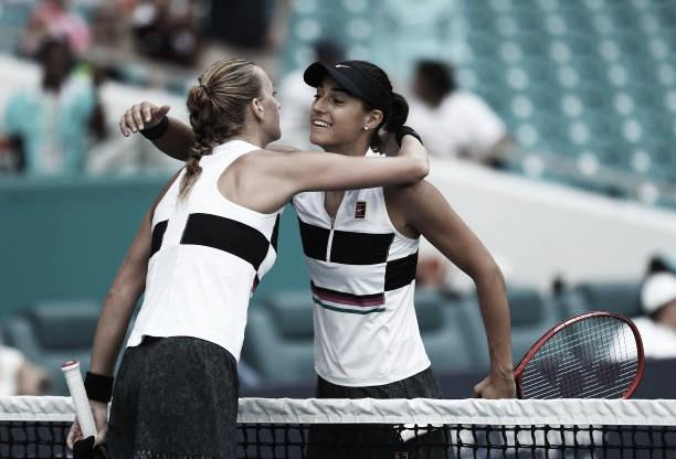 Kvitova vence sin problemas a Garcia y ve más cerca el número uno