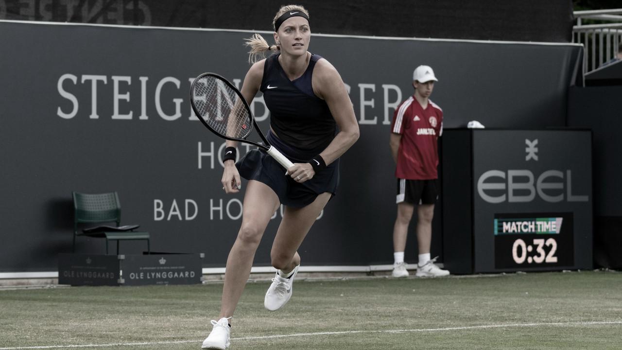 Kvitova sofre, mas vence qualifier Piter de virada em Bad Homburg