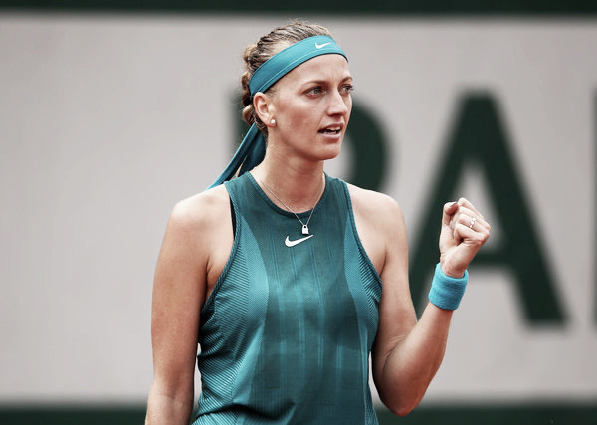 French Open: Petra Kvitova eases past Lara Arruabarrena in comfortable fashion