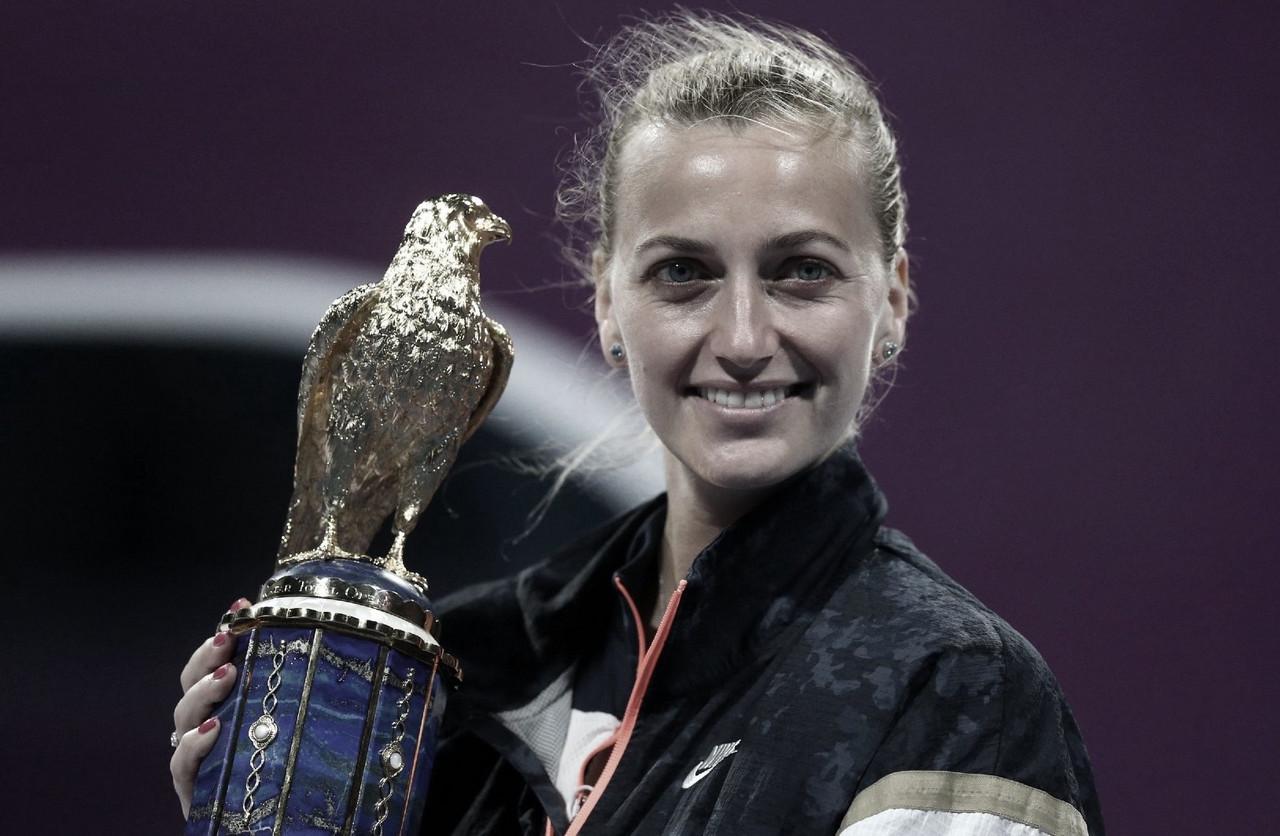 Inspiradísima Petra Kvitova, es campeona en Qatar