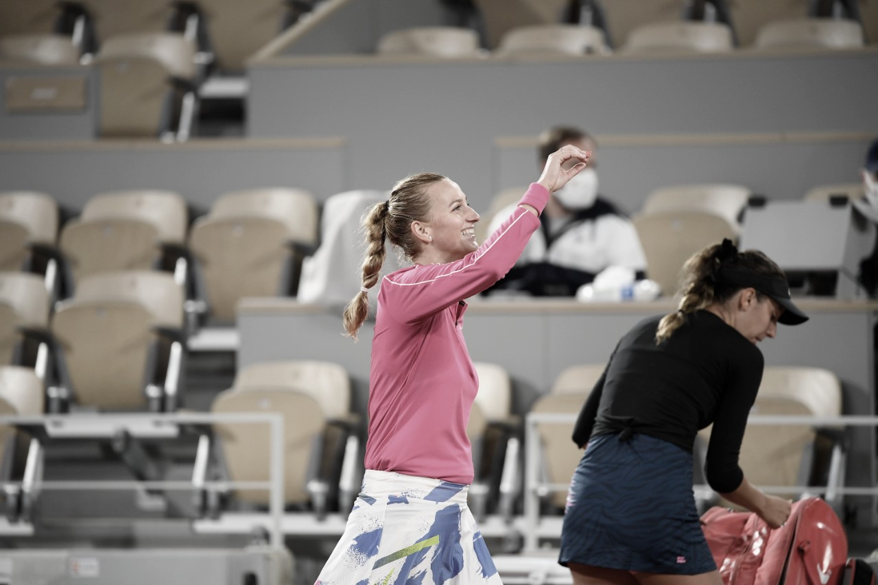 Kvitova confirma favoritismo e estreia com vitória sobre Dodin no Aberto da França