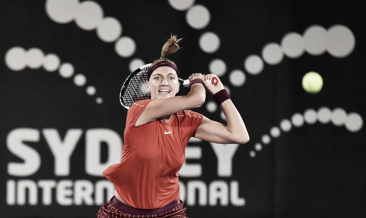 Kvitova elimina atual campeã Kerber e avança às semifinais em Sydney