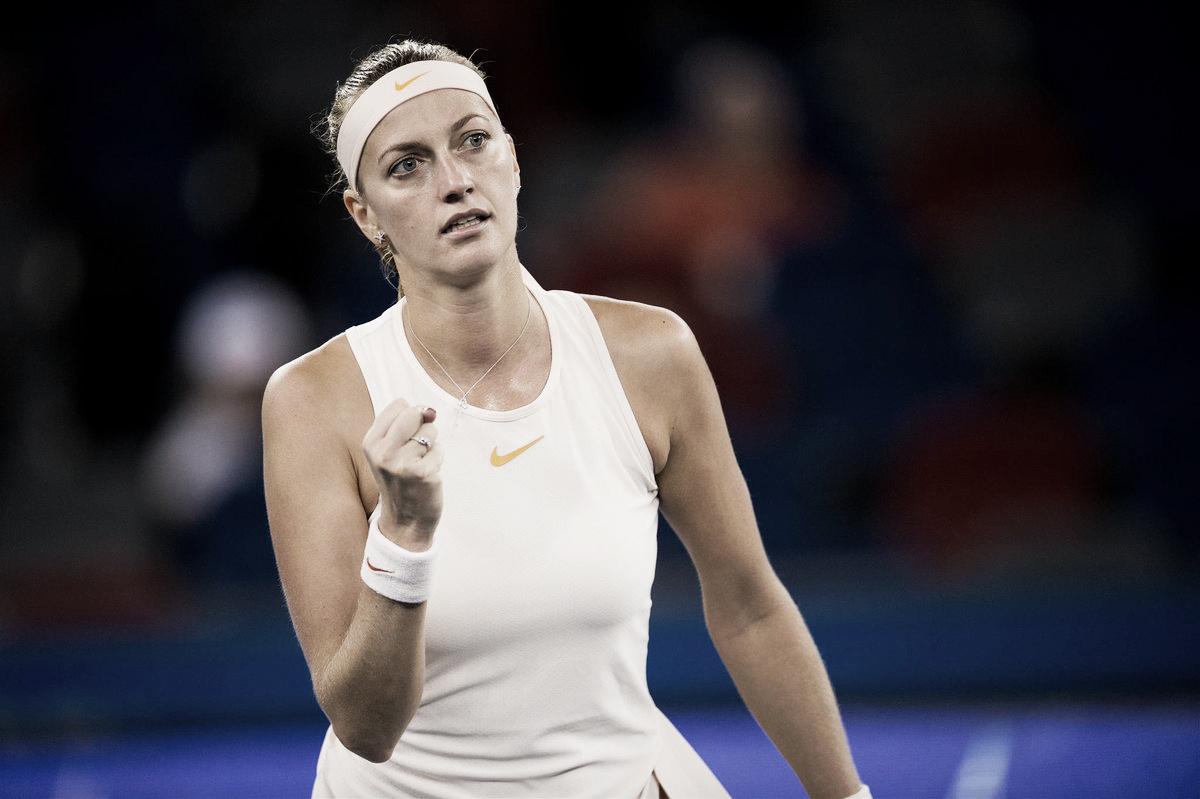 Mais agressiva e potente, Kvitova supera Krunic na segunda rodada de Wuhan