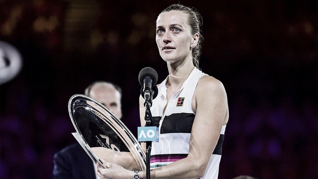 """Kvitova se diz orgulhosa da campanha, mas admite decepção com vice: """"É doloroso"""""""