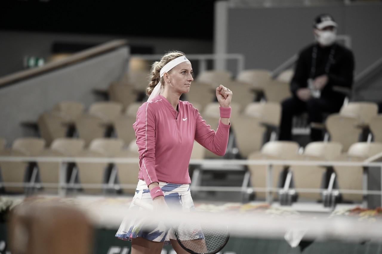 Kvitova supera Zhang e faz melhor campanha em oito anos no Aberto da França
