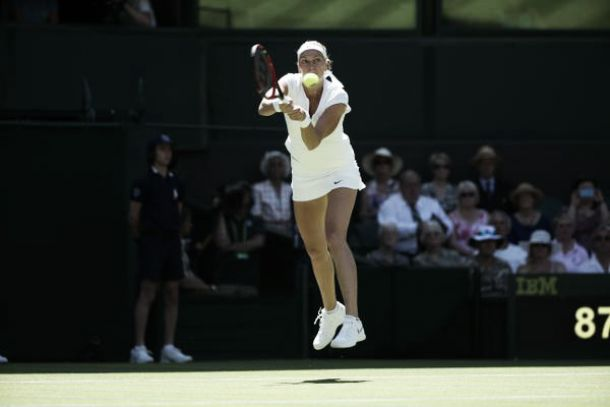 Kvitova juega a placer ante Bertens