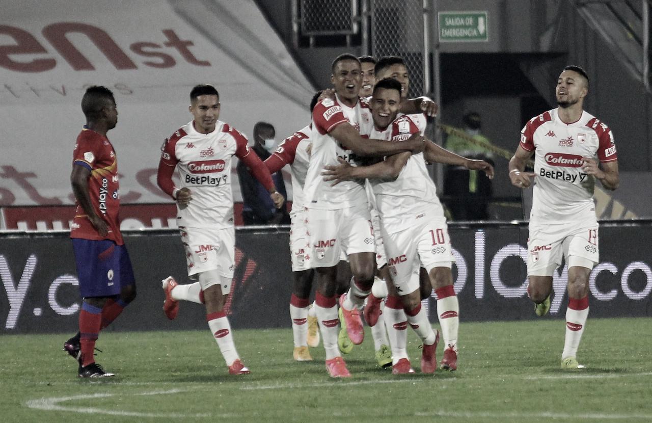 En el último minuto, Santa Fe salva tres puntos durante su visita al Deportivo  Pasto