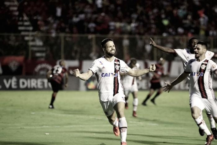 """Diego comemora vaga na Libertadores e ressalta entrega: """"Fui além do meu limite"""""""