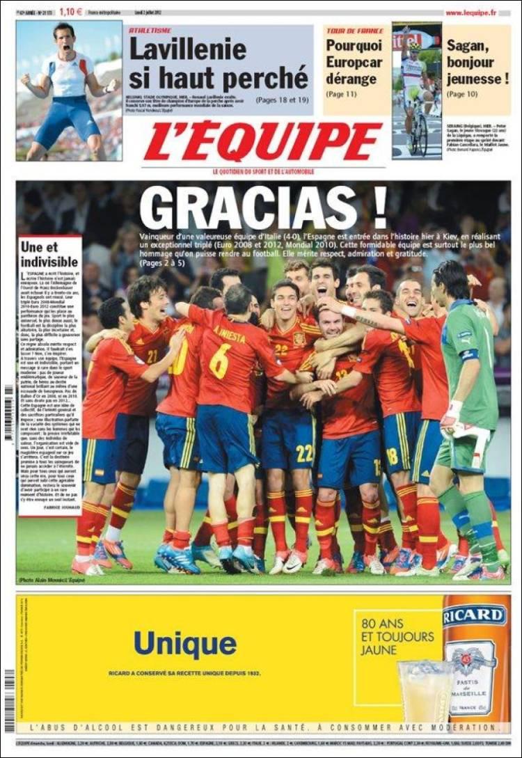 La prensa internacional se postra ante la campeona España