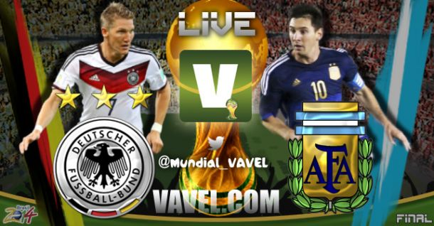 Jogo Alemanha e Argentina   na final da Copa do Mundo 2014
