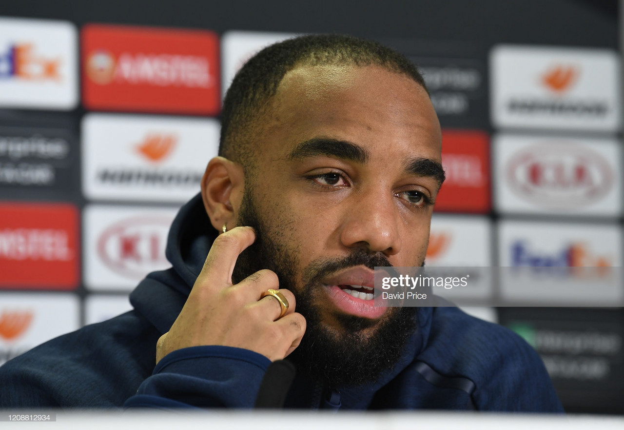 Lacazette: I don't have Champions League exit clause, Arsenal must keep Aubameyang