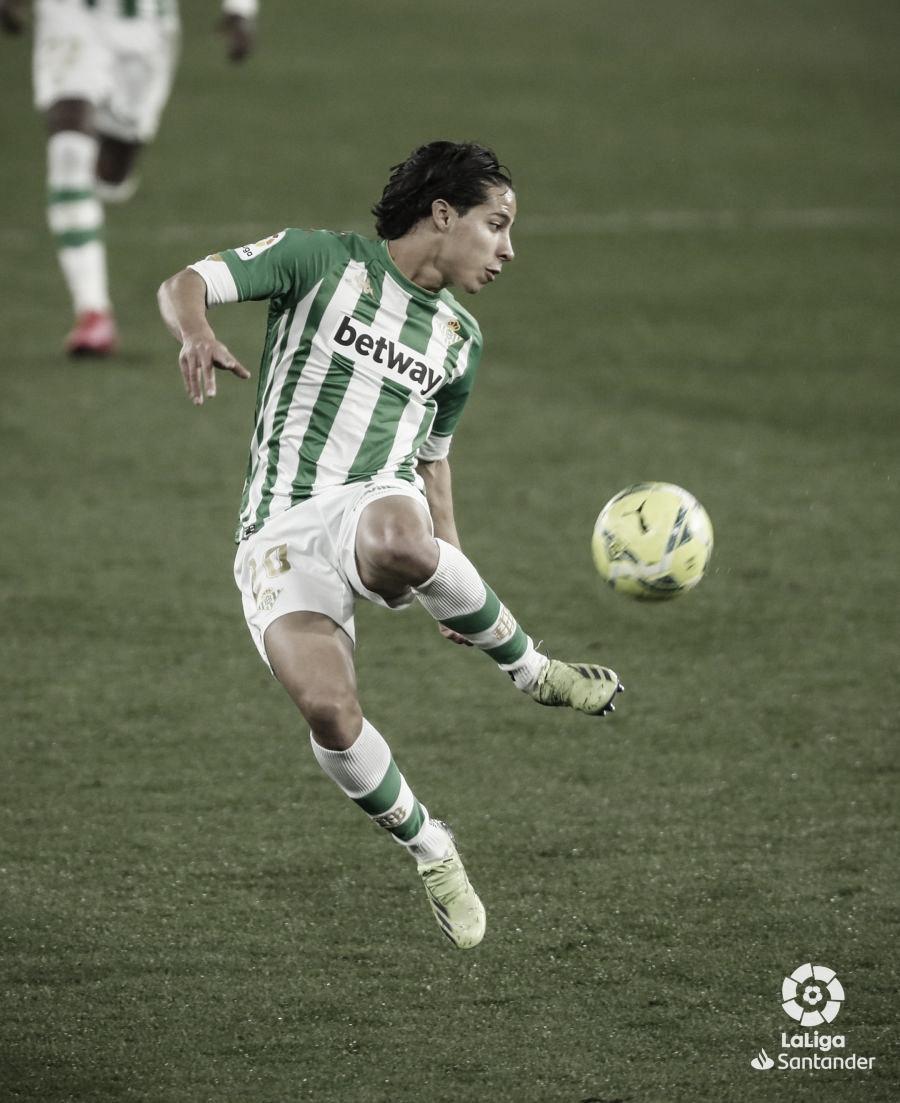 Lainez en el encuentro Betis - Celta.Foto: LaLiga Santander