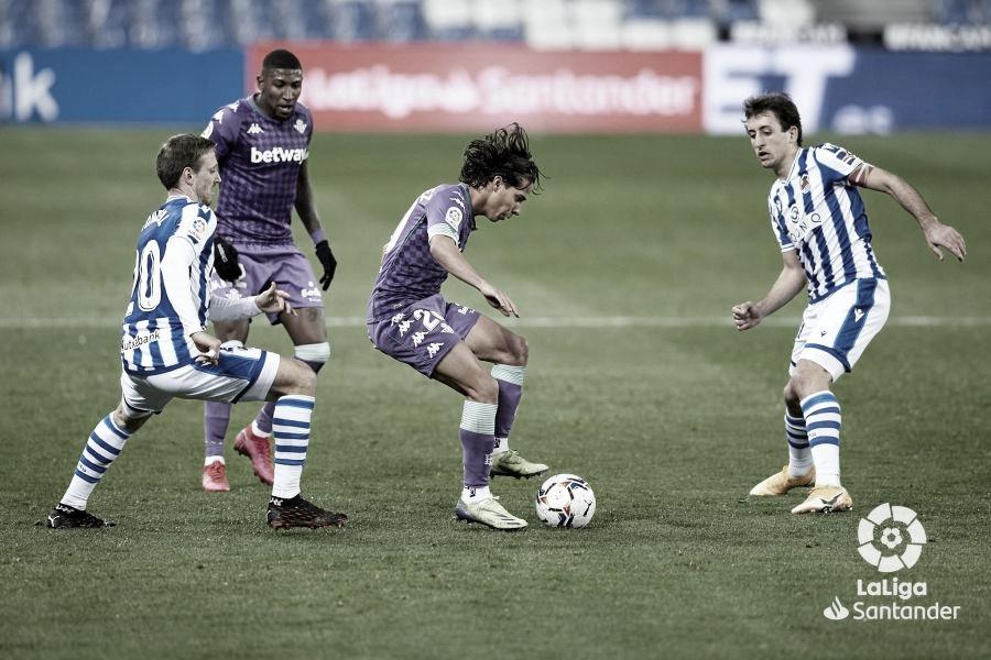 Diego Lainez en el Real Sociedad- Betis.Foto: LaLiga Santander