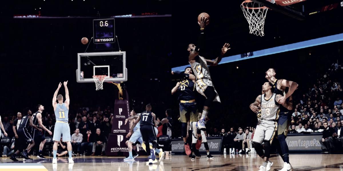 Lakers y Cavs se aventajaron por la mínima
