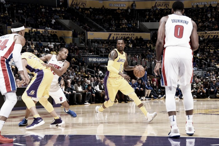 Lakers frenó a Detroit