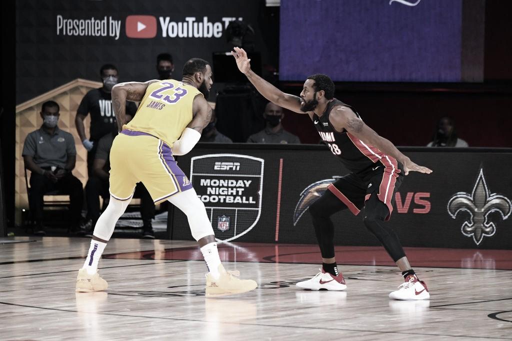 Com show de LeBron e Anthony Davis, Lakers vencem Heat e estão a um jogo do título