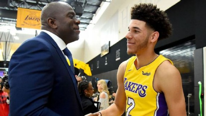 "NBA Media Day - Los Angeles Lakers, Johnson incorona Ball: ""E' l'uomo perfetto per noi"""