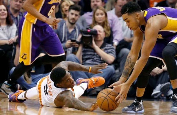 Phoenix Suns Pull Away Late, Beat Los Angeles Lakers 120-101, Behind Knight's Triple-Double