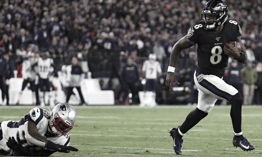 Lamar y los Ravens le quitan el invicto a Patriots