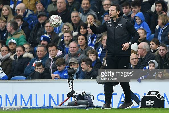 Lampard slates Derby first half after FA Cup exit