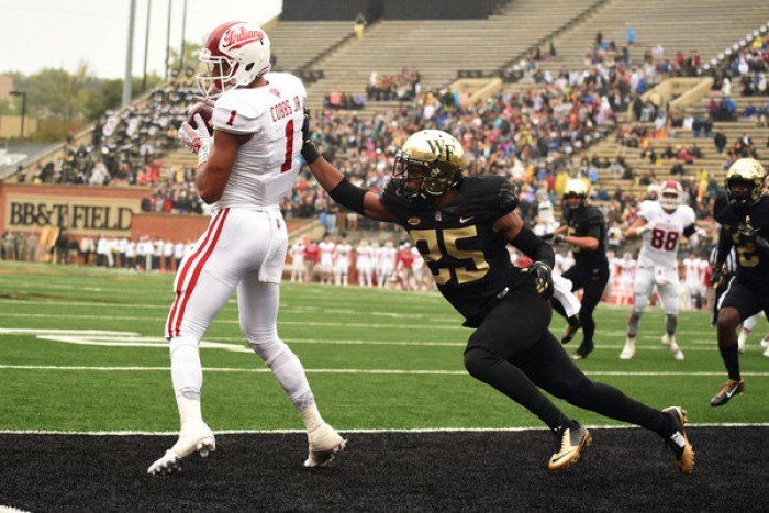 Wake Forest makes Hoosiers pay for miscues in 33-28 win