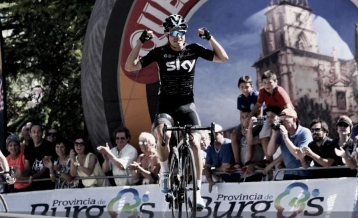 Landa gana en el Castillo y es el primer líder de la Vuelta a Burgos