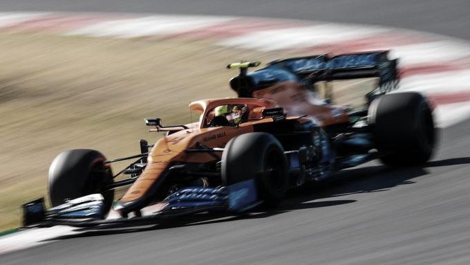 Lando rodando en Portimao. Foto: F1