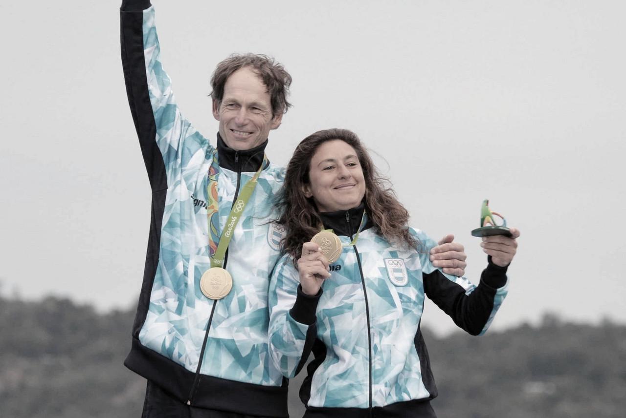 Santiago Lange y Cecilia Carranza, abanderados argentinos