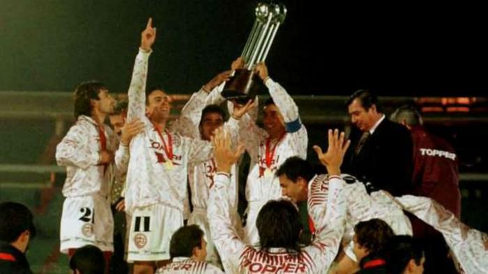 Lanús fez história ao ser campeão da Copa Conmebol em 1996