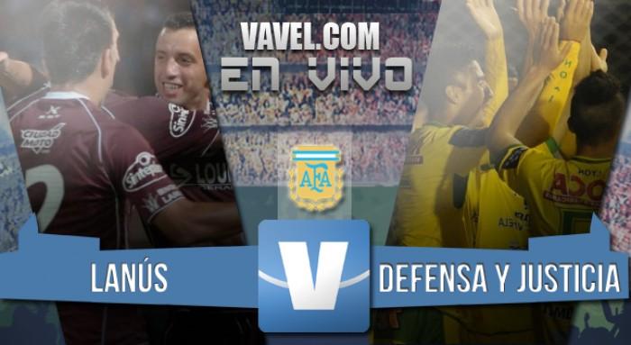 Resultado Lanús - Defensa y Justicia por el Torneo de Transición 2016 (2-1)