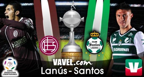 Resultado Lanús - Santos Laguna en Copa Libertadores 2014 (2-1)