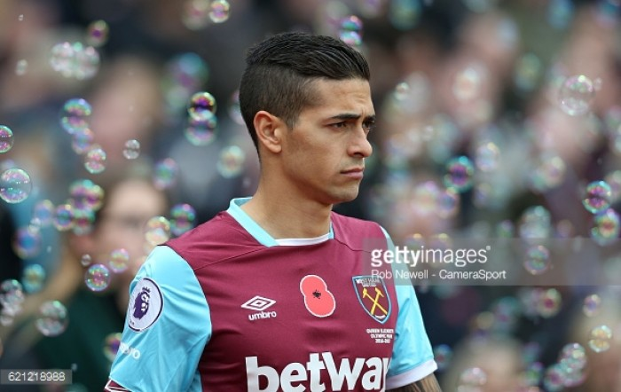 Lanzini looking to get the edge over ex-teammate Lamela this weekend