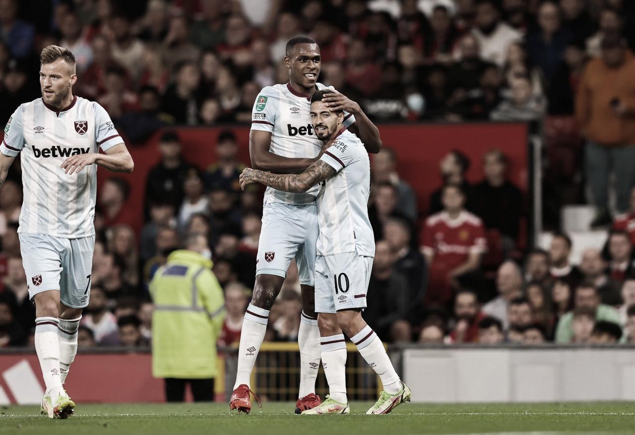 West Ham vence Manchester United fora de casa e avança na Copa da Liga Inglesa