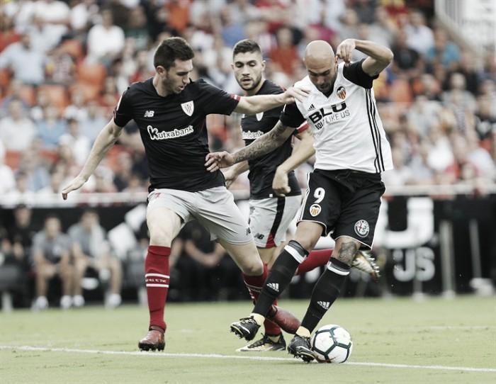 Al Athletic le sobra la primera parte en Mestalla