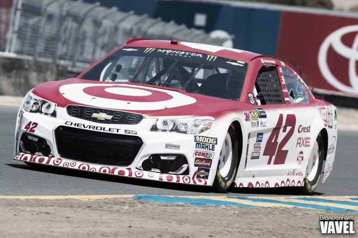 Kyle Larson is looking to win yet another race at Michigan. (Credit: Brandon Farris/VAVEL USA)