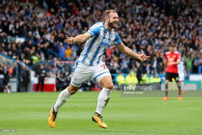 Striker Laurent Depoitre named Huddersfield's October Player of the Month