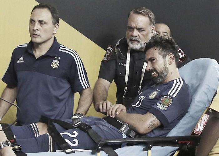 Com fratura no cotovelo, Lavezzi está fora da final da Copa América Centenário