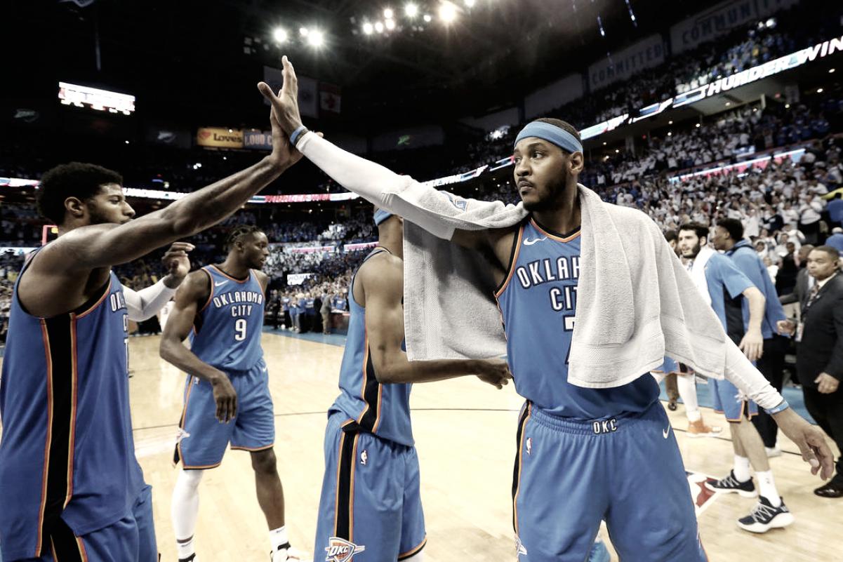 REPORTE: Carmelo Anthony no planea salirse de su contrato con el Thunder